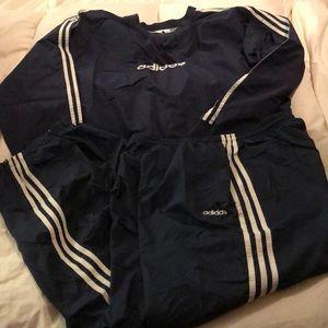 Men's XL ADIDAS Windbreaker track suit